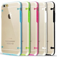Ultra Transparent Glow in Dark Case for iPhone 6 ' 4.7(Assorted Colors) Free Shipping