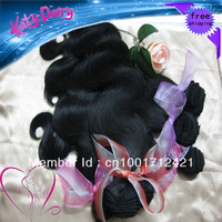 10-28 Virgin Brazilian Human Hair Extensions 2pcs/lot body wave natural Wave color 1b off Black free shipping