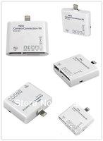 10pcs/lot For iPad mini Camera Connection Kit 5 +1 in1,USB port ,Reader for SD TF M2 MS MMC card reader for ipad4/ipad mini