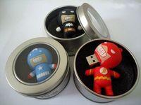 50pcs/lot Cartoon PVC Super Hero Usb Flash Pen Drive 1GB 2GB 4GB 8GB 16GB 32GB usb flash disk memory stick