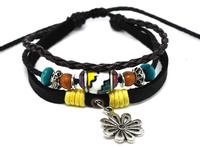 Wholesale 20 pcs/Lot Fashion Beautiful Tribal MultiWrap Leather Hemp Bracelet Surfer Wrist Cuff A305