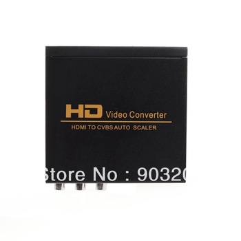 HDMI to AV Audio Video CVBS Auto Scaler HD Video Converter For TV DVD 1080P Video Converter