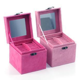 Aq2980 ayomi mony princess fashion wool deerskin flocking jewelry box