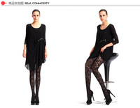 Dimensional flower pattern tights  pantyhose of sexy fishnet effect  free shipping retail and wholesale 2015 new  6795