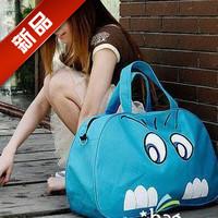 2013 female canvas bag big cat travel bag cartoon handbag fashion  large capacity bags pink blue
