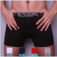 Male boxer panties 100% cotton flat feet panties plus size long panties comfortable