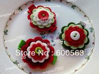 """2"""" Baby flower felt hair bows hair clip Girls' Hair Accessories felt hair clips 120 pieces B001"""