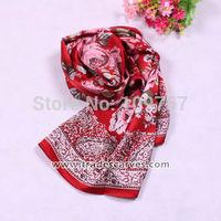 ladies long fashion silk shawl