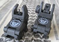 back up front & rear folding sight set sights Black