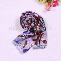 fashion long silk shawl for lady