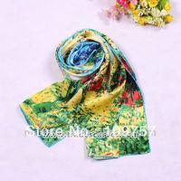 women fashion silk long shawl