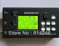 Free  shipping ,Pocket LCD 10MHz dual channel oscilloscope, including two probes without batteries