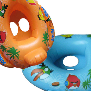 Kids Baby Inflatable Pool Swim Ring Seat Float Boat Swimming Aid Tube With Wheel