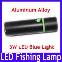EMS Free shipping Aluminum alloy 5W Blue led flashlight torch with tripod \ LED fishing lamp,LED torch flashlight,10pcs/lot