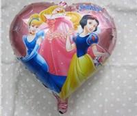 "PT0056 Animated Cartoon PRINCESS Balloon, Girl Lady Birthday Party Balloon, 18.5"" inch, 10pcs/lot, free shipping"