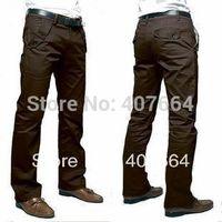 2013 new hot sale  high quality Men's casual pants shade cloth cotton pants slim mens pants 36 plus size grey black khaki brown