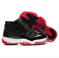 EMS Free Shipping 2013 Bred Retro 11 Basketball shoes Men Traniers Basketball Shoes Size 8-13