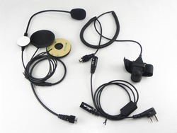 New Two Way Radio Motorcycle Helmet Headset For KENWOOD Walkie talkie two way CB Ham Radio C088 Alishow(China (Mainland))