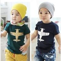 Baby Tee Shirt Kids T Shirt Fit 3-7Yrs Girls Boy Children Short  Sleeve T Shirt Baby Clothing 5Pcs/Lot 5 Size Same Color
