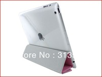 Crystal Hard Back Case Work with Smart Cover For Apple iPad 2 3 Multiple Color 50pcs/lot for free shipping