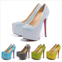 2013 crystals weding dress 160mm famous brands women shoes crystal high heels brand red sole boots woman