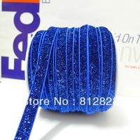 50 Yards 3/8'' 10mm Royal Blue  Elastic Glitter Great For Headbands