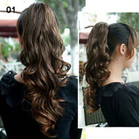 17inch One Piece New Long Synthetic Curly/Wave Ponytail Hair Extensions Styling Stylish Queens Hairpiece For Lady