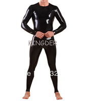 High quality fast delivery sexy fetish latex zentai bodysuits rubber clothing for man