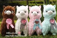Free shipping! 48cm, Arpakasso Amuse plush lover alpaca, 4 colors, toy sheep