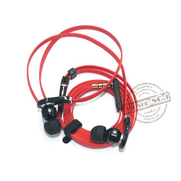 """vermelho 3.5mm"""" l""""- chefe melhor in-ear headphone fone de ouvido não há fone de ouvido microfone para telefone/mp3/mp4/pc/dj/psp frete grátis(China (Mainland))"""