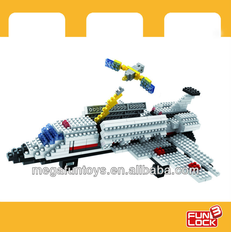 THE SMALLEST BUILDING BLOCK IN THE WORLD Space Shuttle 3d building block bricks(China (Mainland))