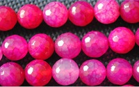 Free Shipping!Faceted Rose Red Agate Beads,Loose Agate Stone Accessories Fashion DIY Jewelry Fittings,Size:6mm (186 Pieces/Lot)