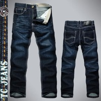[TC Jeans] 2013 new arrival  men clothing fashion dark color straight jeans men casual hot selling male jeans