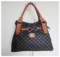 Fashion ladies'handbag,designer bag,Material:PU Size:42 x 30cm,4 different colors,(black)Two function,Free shipping