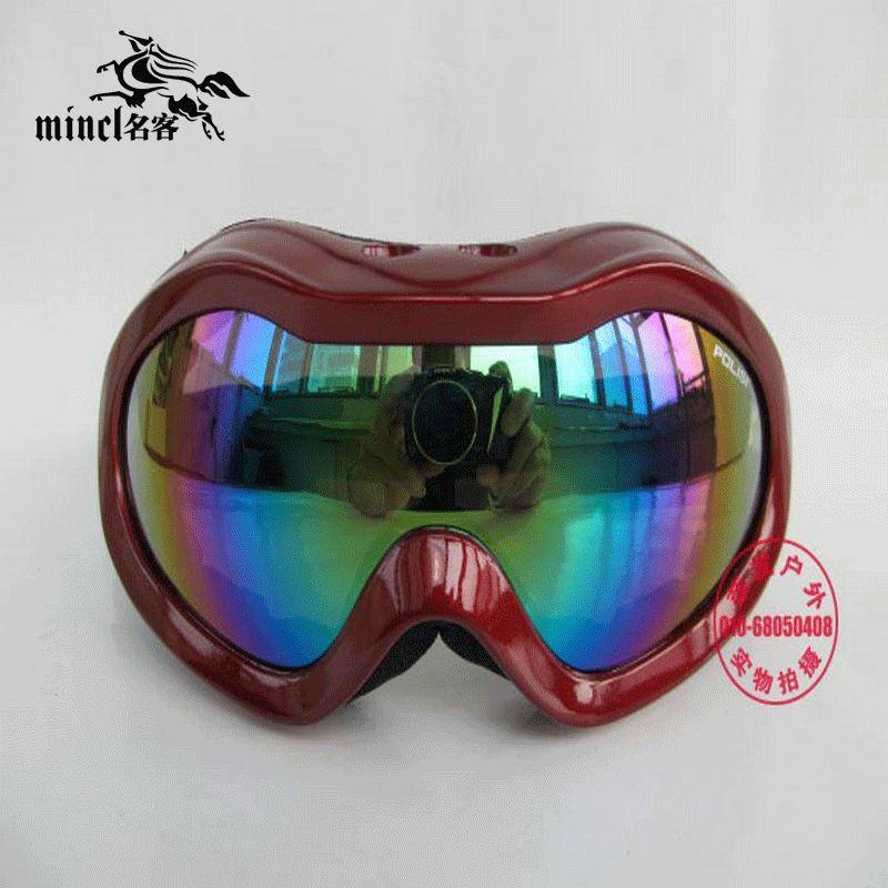 Hot-selling polisi single tier lenses child ski eyewear spherical mirror sports goggles outdoor skiing mirror(China (Mainland))