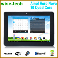 free shipping singapor post ! In Stock Ainol Hero Quad Core Novo 10 10.1inch 1280x800 IPS Android 4.1 16GB Tablet PC/emma