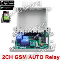 2Channel Output GSM-AUTO GSM SMS Remote Control Controller Relay Contacts Switch Quad Band Timed/Delayed switch on/off, by Post