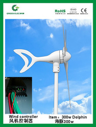 Wholesales high quality 300w wind turbine,wind power generator system,wind driven generator+wind charger wind regulator(China (Mainland))