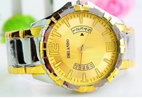 Freeshipping The supply of Gold Dial quartz watch band watches business gifts