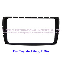 Double Din Car Audio Refitting Frame,Dash Kit,DVD Frame,Fascia Facia Panel,Dashboard Kit,Dash Styling Kit for Toyota Hilux 2din