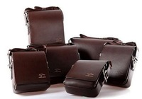 new 2013 Fashion Kangaroo Mens Leather Crossbody Shoulder Messenger Bag Briefcase 2 Colors 2 Versions Free Shipping Handbag