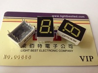 0.5inch 1 digital 7segment display White Color LBT5101BW Common Anode size 12.70x19.0x8.0mm