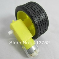 4Lot/package Deceleration DC motor + supporting wheels , a / smart car chassis, TT motor / robot car wheels