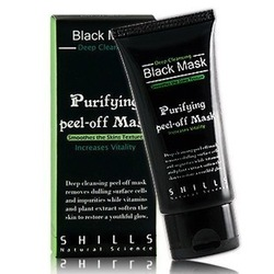 Best Selling SHILLS Deep Cleansing purifying peel off Black mud Facail face mask Remove blackhead facial mask 50ml,free shipping(China (Mainland))