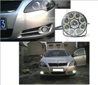 Freeshipping daytime running light DRL Round 9W LED daytim running light