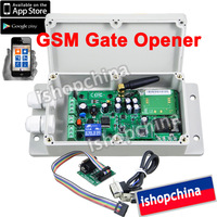 1set GSM Gate Door Opener Operator SMS Remote Control Relay Output Contacts Quad Band Support APP Control ADC-200,by Post