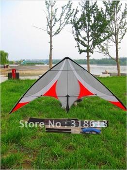 Free shipping 230*90CM professional Stunt kite,Triangle Nylon Kite