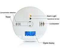 5sets/Lot New CO Carbon Monoxide Alarm Poisoning Smoke Gas Sensor Warning Detector Tester LCD Free Shipping 8932