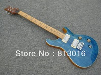 (free shipping) prs guitar Private Stock Johnny Hiland Electric Guitar blue color on body top with tigerflam