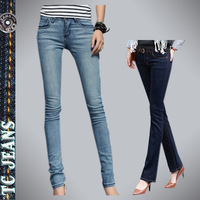 [TC Jeans] 2013 hot selling bell bottom Jeans for women fashion slim long pants mid waist jeans free shipping women pants